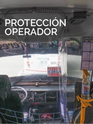 Protección operador adecuación Bioseguridad Autobus