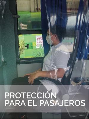 Protección pasajeros adecuación Bioseguridad Autobus